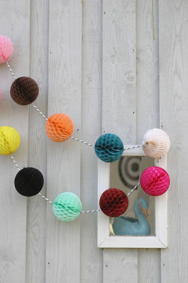 Set Of Ten Honeycomb Paper Ball Decorations Paper Balls Honeycomb Paper Paper Party Decorations