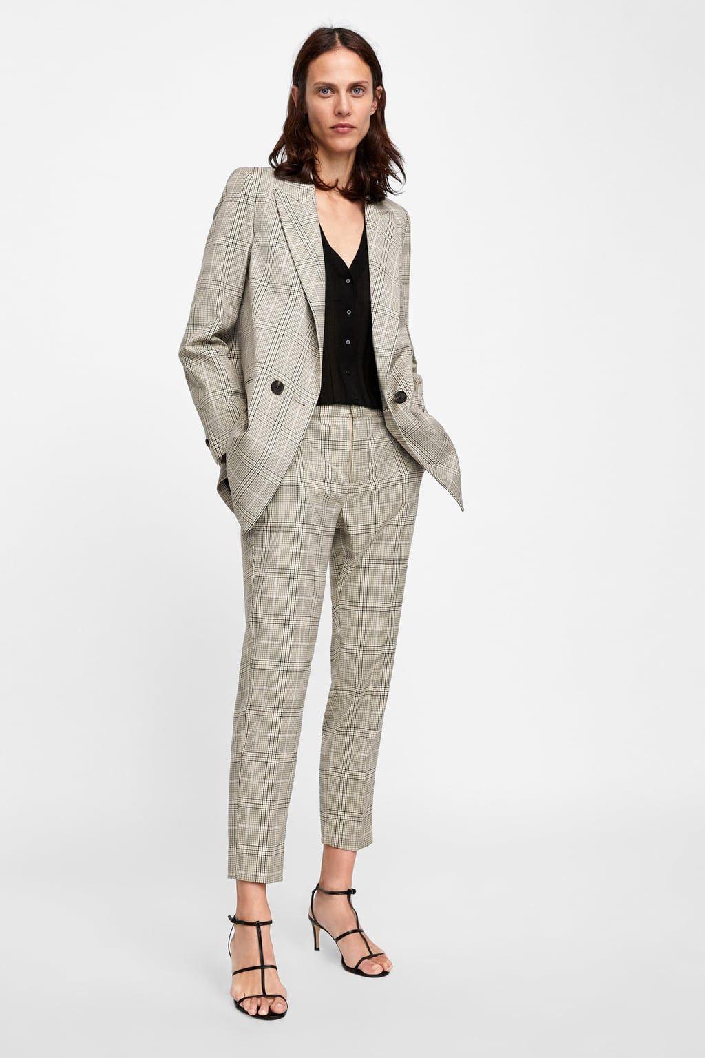 Pantalon Pitillo Cuadros Zara Mujer Pantalones Pitillos Rebajas Mujer