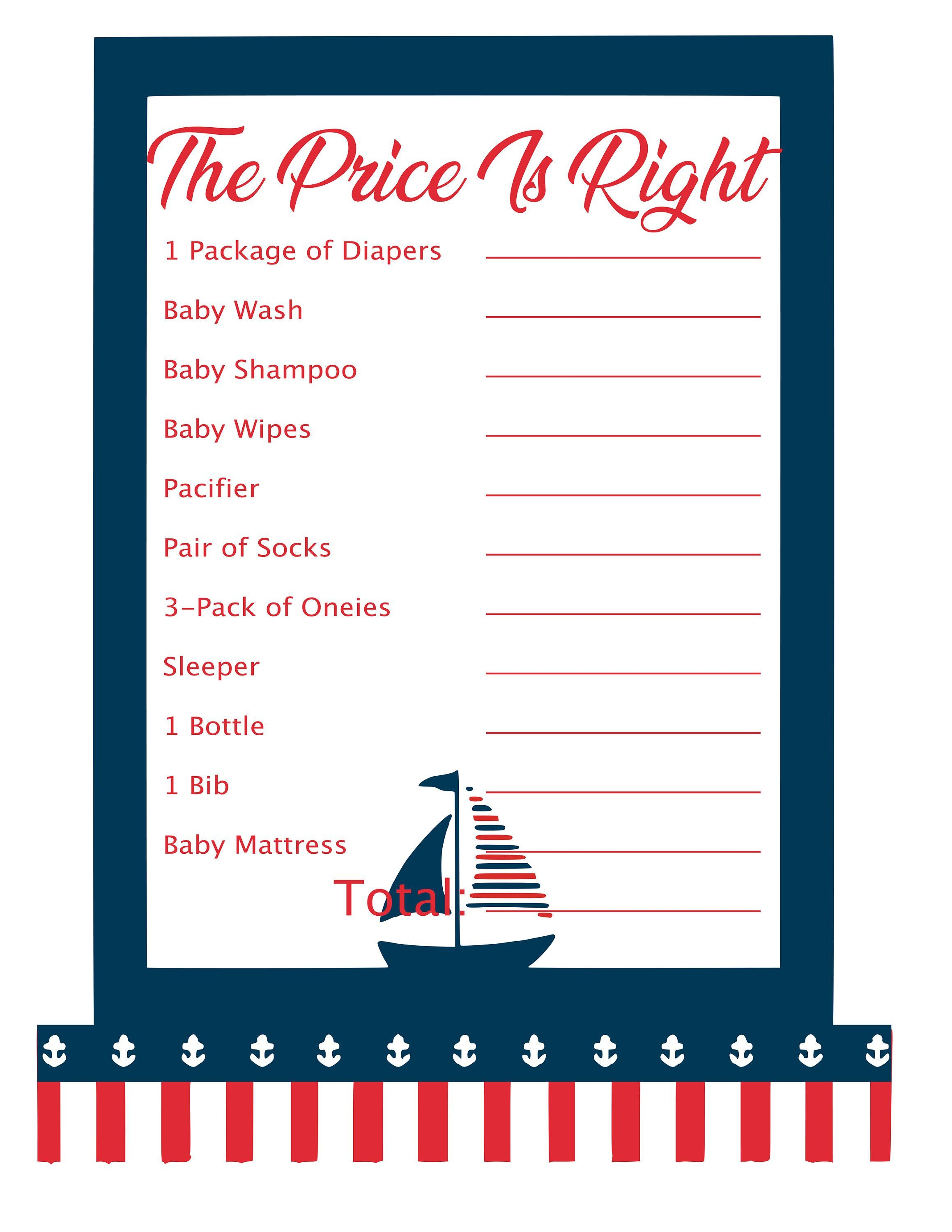 On Sale Nautical Baby Shower Games 10 Printable Games Plus