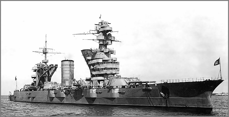 vintage photographs of battleships battlecruisers and cruisers soviet battleship oktyabrskaya revolutsiya former  [ 1450 x 745 Pixel ]