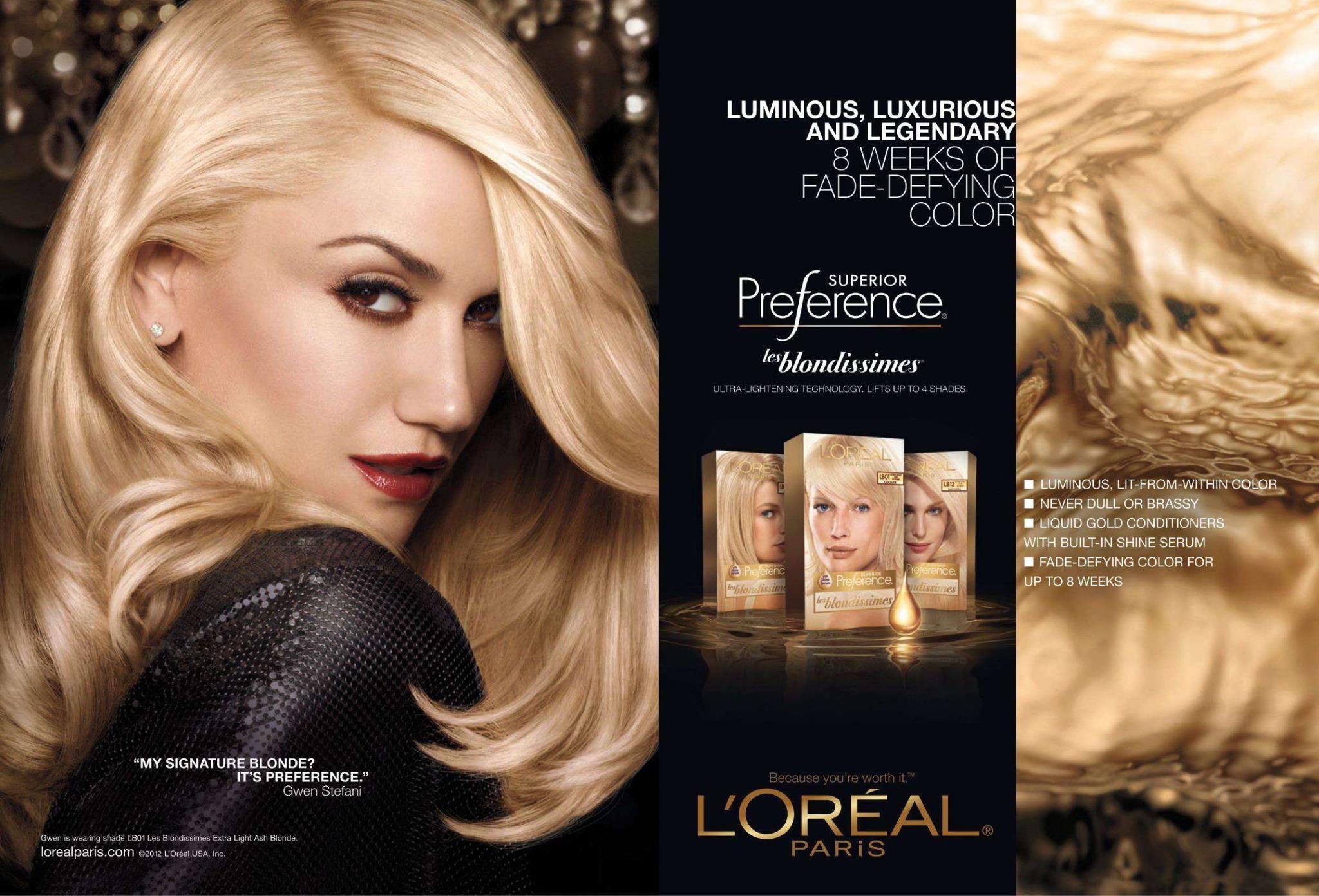 Loreal hair color quiz - Gwen Stefani For L Oreal