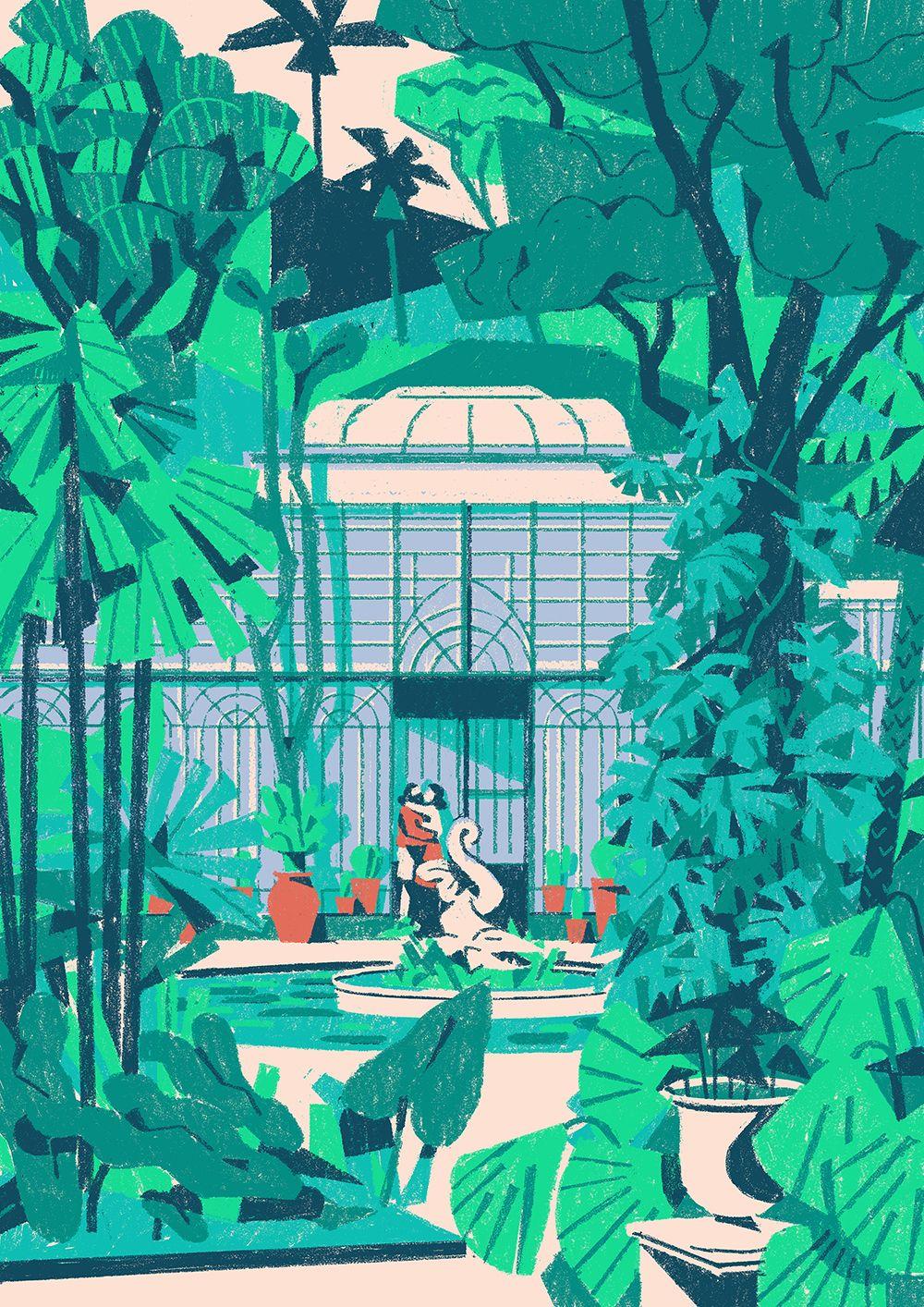 Timberland Let S Get Lost On Behance Garden Illustration Glasshouse Garden Illustration Illustration Art Illustration Design
