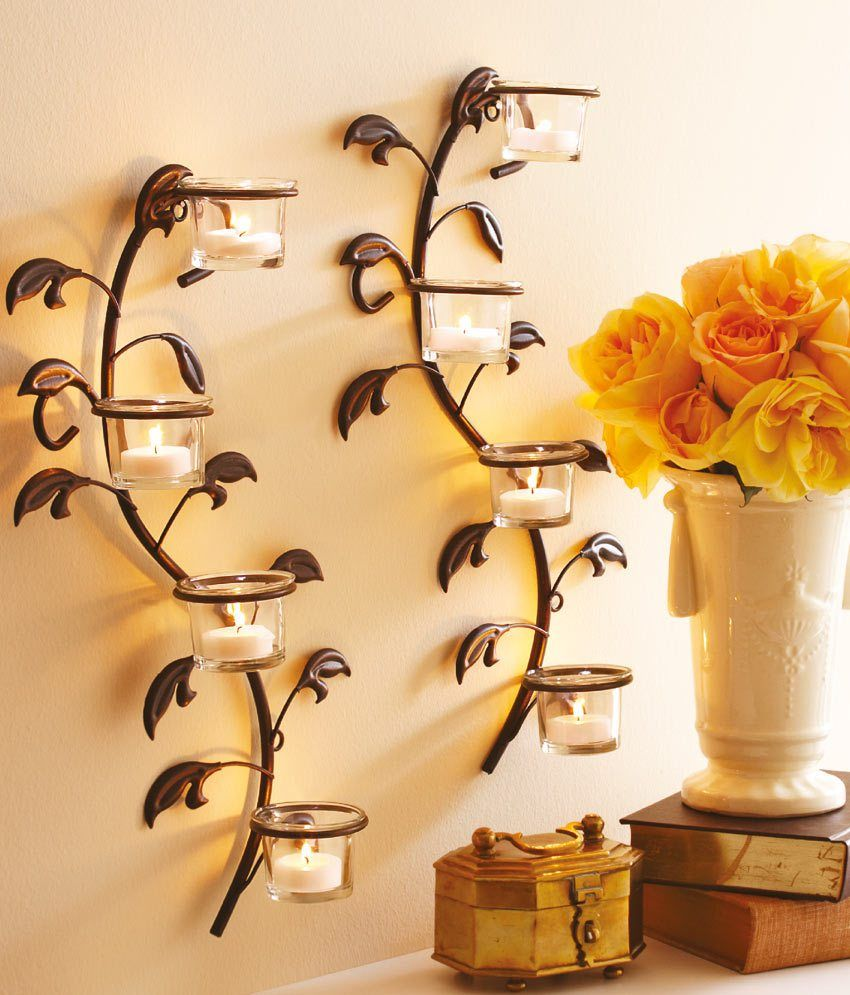 Decor Wall Decors A Form Of Sticks That Come With The Leaves As A ...