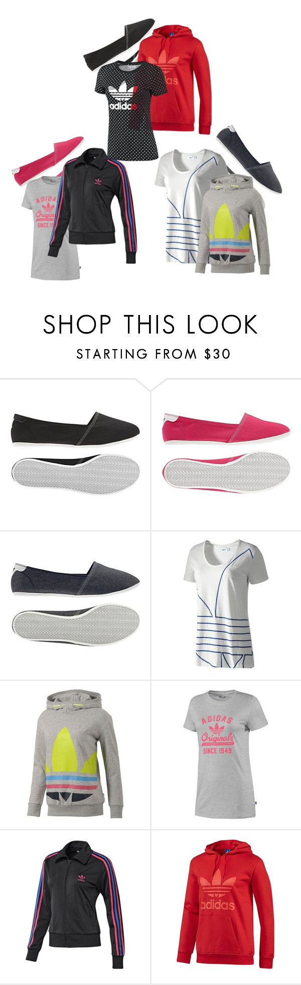 """""""adidas Originals - Women's"""" by adidas ❤ liked on Polyvore featuring adidas, women's clothing, women, female, woman, misses, juniors, originals, hoodie and flats"""