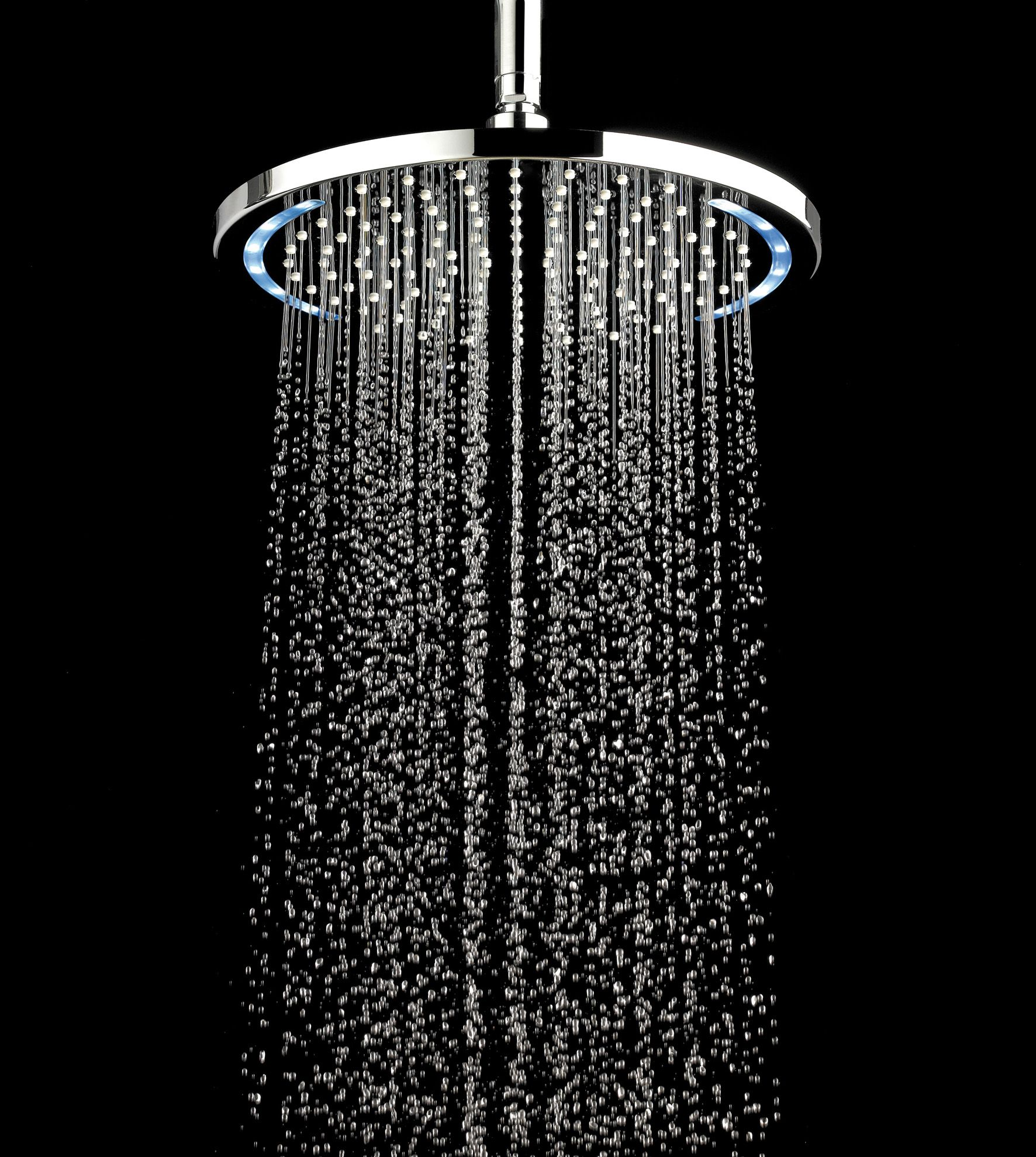 new led fixed shower heads come in square or round options led