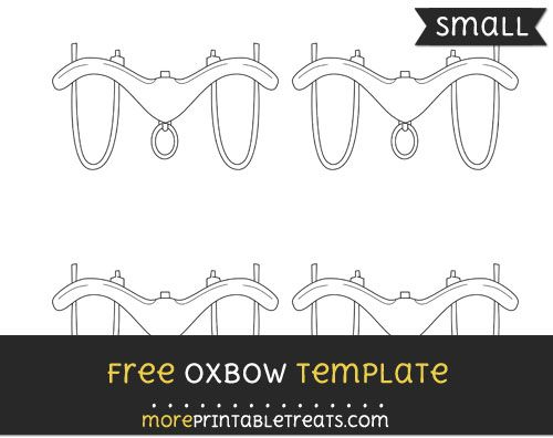 Free Oxbow Template - Small Shapes and Templates Printables by