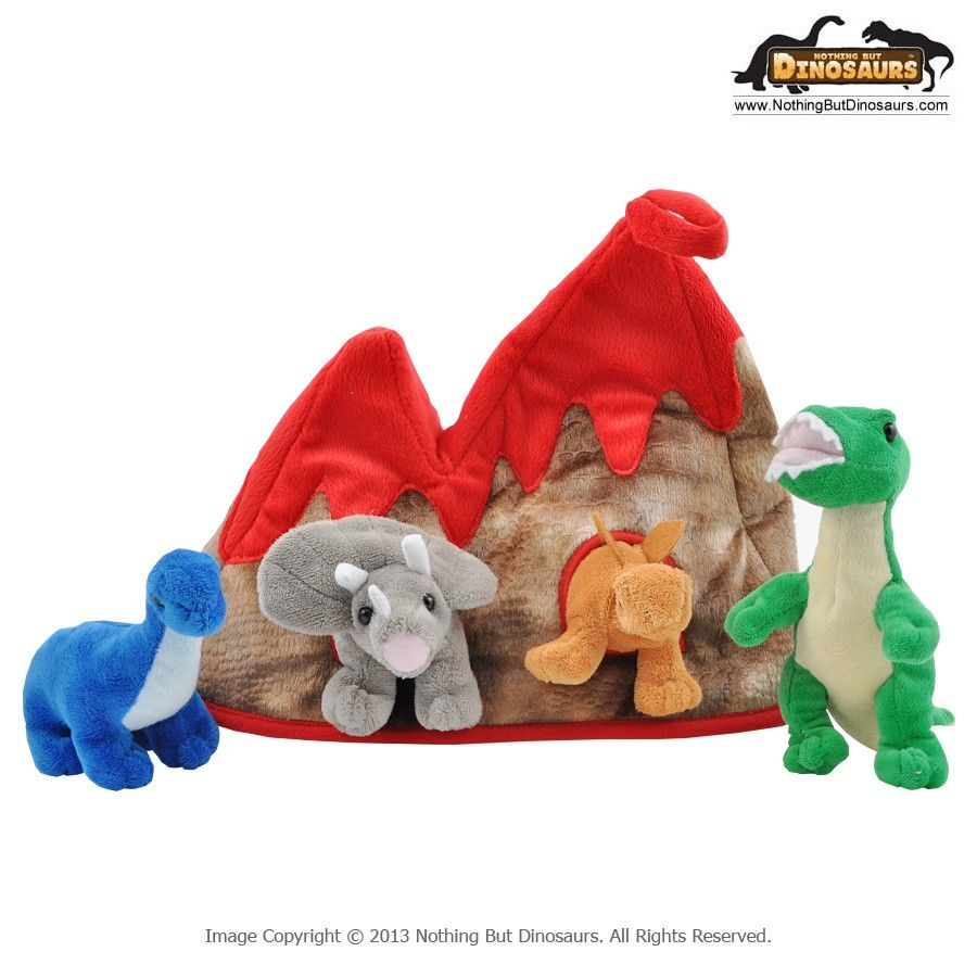 Unipak Designs Kids Soft Volcano Lava Top Animal House With 4