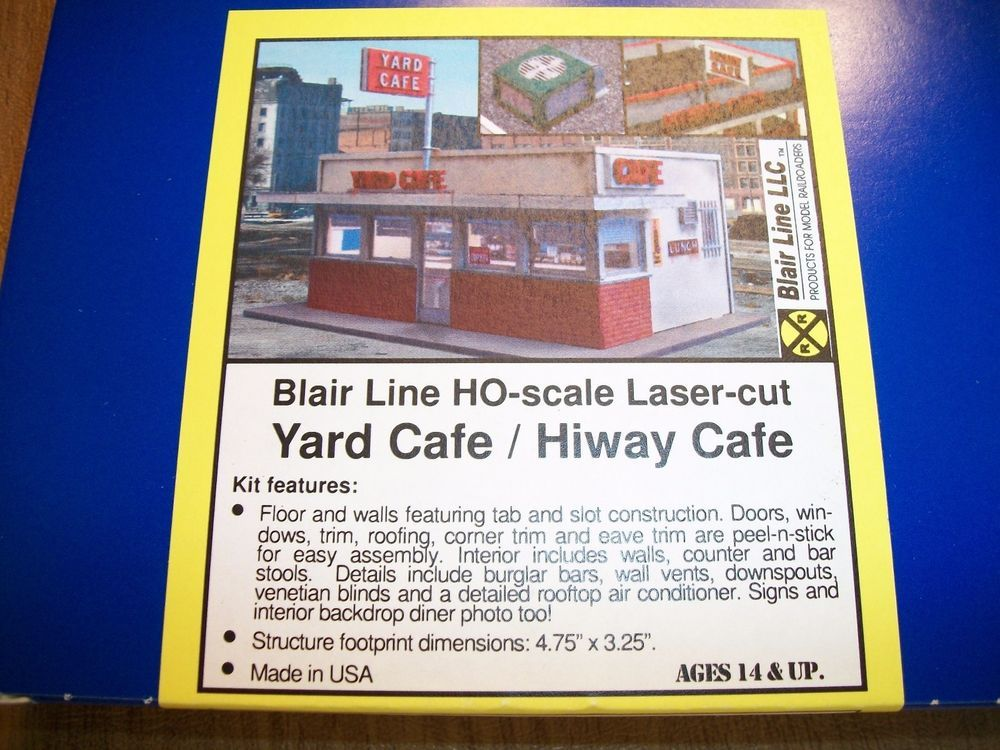 Blair Line HO Scale Laser Cut Kit  Yard Cafe Hiway Cafe  NEW #2006 Very Nice