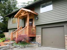 backyard ideas of a bi-level home - Google Search | curb appeal ...