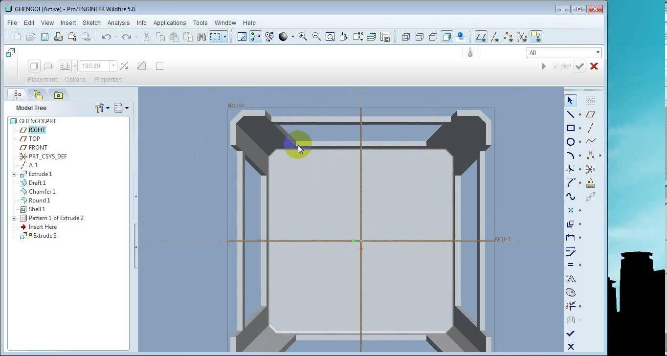 Vẽ ghế nhựa trong pro engineer 5.0 | Pro Engineer - Creo tutorial ...