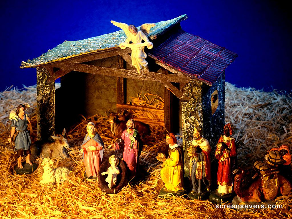 Image result for Crib ideas or Christmas nativity scenes\