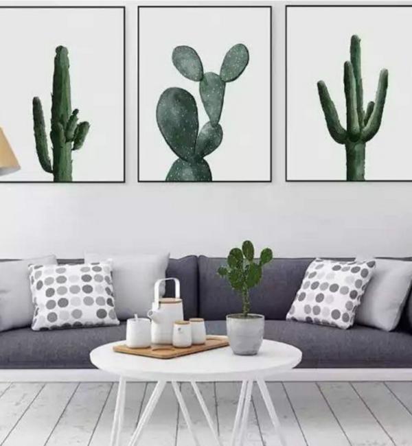 La cactus tendencia en la decoraci n dale un toque original a tu casa decorar con cuadros - Decoracion barata hogar ...