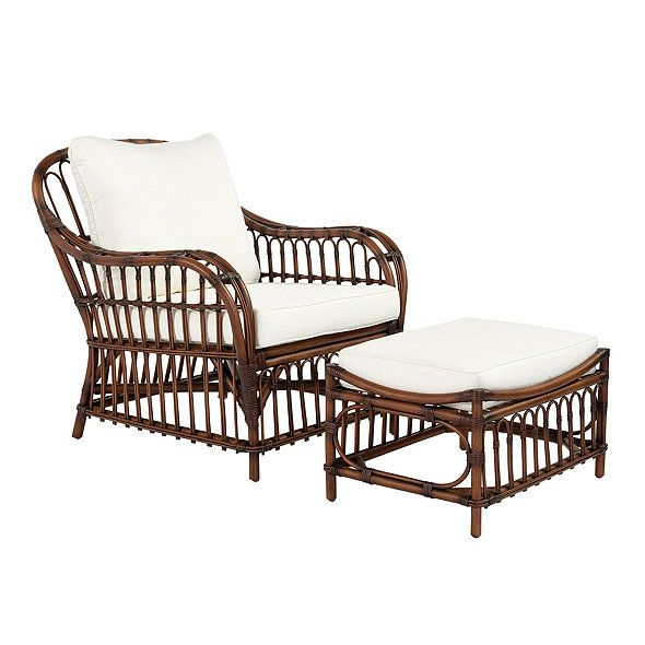 Every Graceful Curve Of Our Sorrel Rattan Chair And Ottoman Is Steam Bent  And Woven By Hand Of Strong, Natural Rattan. Joints Are Reinforced With  Tightly ...