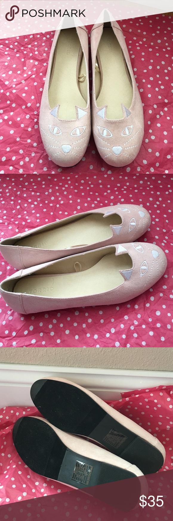 Crazy Adorable Torrid Cat Flats So crazy cute!! Brand new! Never worn! torrid Shoes Flats & Loafers
