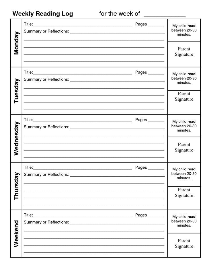 Astounding image with free printable reading logs with summary