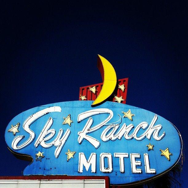 Sky Ranch Motel Vintage Neon Sign -- On East Fremont