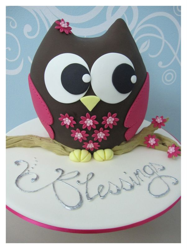 Easy Cake Decorating Ideas for Children Owl cakes Owl and Cake