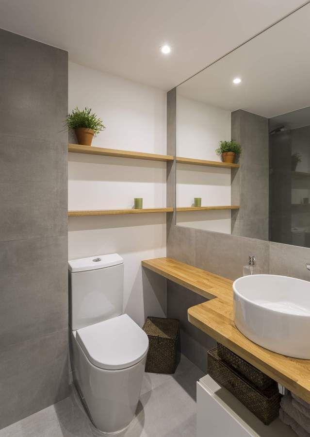 Ba o de cemento ba os en 2019 Banos minimalistas pequenos