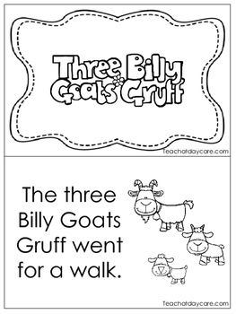 picture about Three Billy Goats Gruff Story Printable identify A few Billy Goats Gruff Emergent Reader. Pre-k, Kindergarten