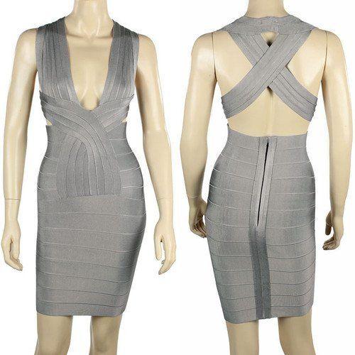 Grey Color Cross Straps Bandage Dress Size M crazycatz, http://www.amazon.co.uk/dp/B00CUA9DHO/ref=cm_sw_r_pi_dp_IMaysb1N48JZT