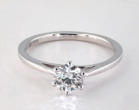 .8ct Solitaire Round Engagement Ring White Gold