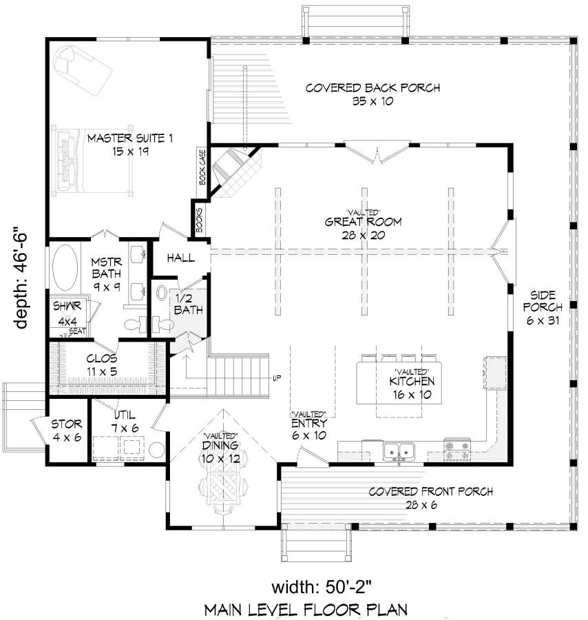 1st Floor Plan Image Of Featured House Plan Bhg 7518 In 2020 Farmhouse Style House Plans Country Style House Plans House Plans