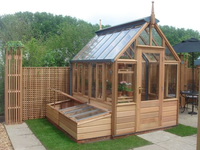 Great Greenhouse With Attached Cold Frames!