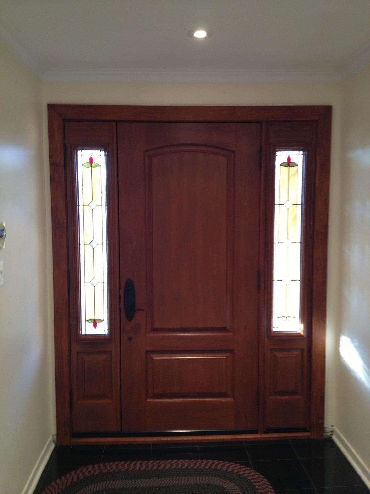 Traditional beauty interior view fiberglass door with custom traditional beauty interior view fiberglass door with custom sidelights fiberglassdoorstoronto planetlyrics Images