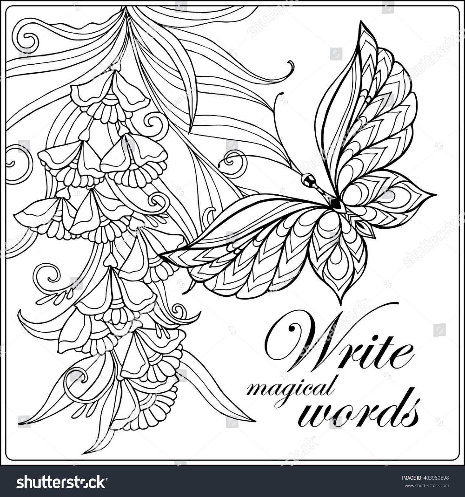 Decorative Flowers Birds And Butterflies Coloring Book For Adult