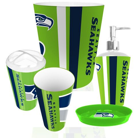 Seattle Seahawks NFL Complete Bathroom Accessories 5pc Set ...