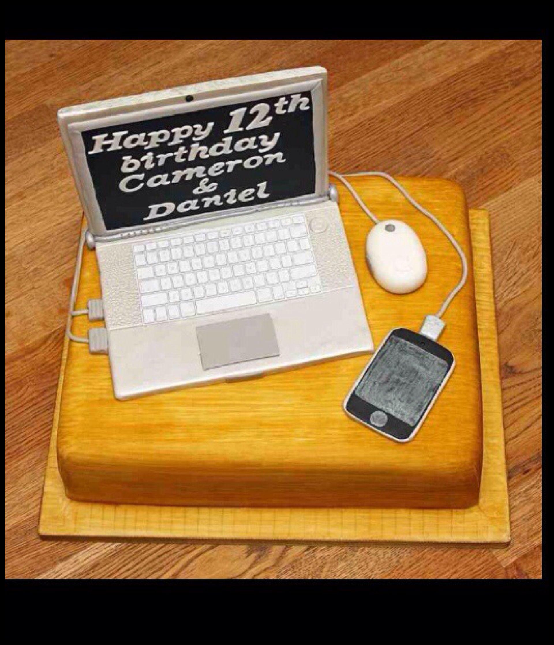Laptop Cake Laptop Cake Cake Computer Cake Fondant