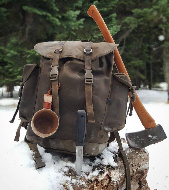 Axes Axe Ax Bushcraftturk Vintage Rucksack Rucksack Tasche