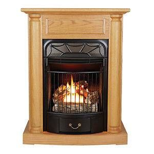 Ventless Gas Stove Heater Fireplace Propane Natural Gas Vent