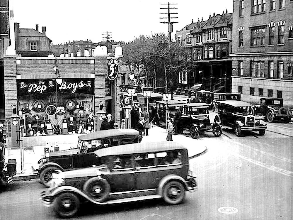 1932-pep-boys-store-and-1920s-and-1930s-cars   automobiles ...