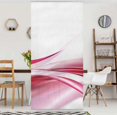 Raumteiler - Pink Dust 250x120cm 250x120 inkl transparenter