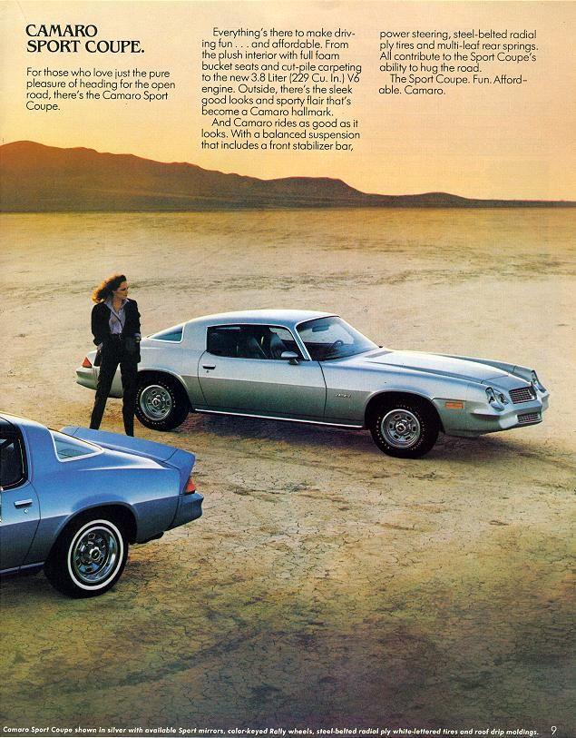 1980 Camaro Sales Brochure Rally Sport Camaro 1980 Camaro Chevy Camaro