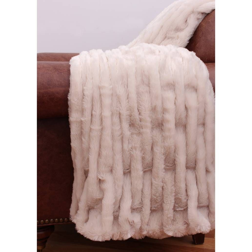 Thro Josephine Faux-Fur Throw in Hummus Bed Bath & Beyond - $50 - #GrahamHill#2016