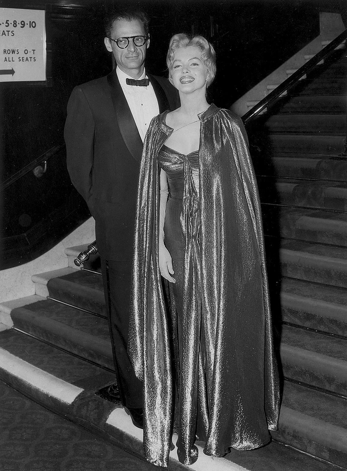 Marilyn Monroe And Arthur Miller At The Premiere Of The Battle Of