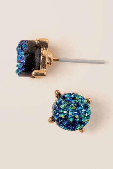 Darci Druzy Stud Earring