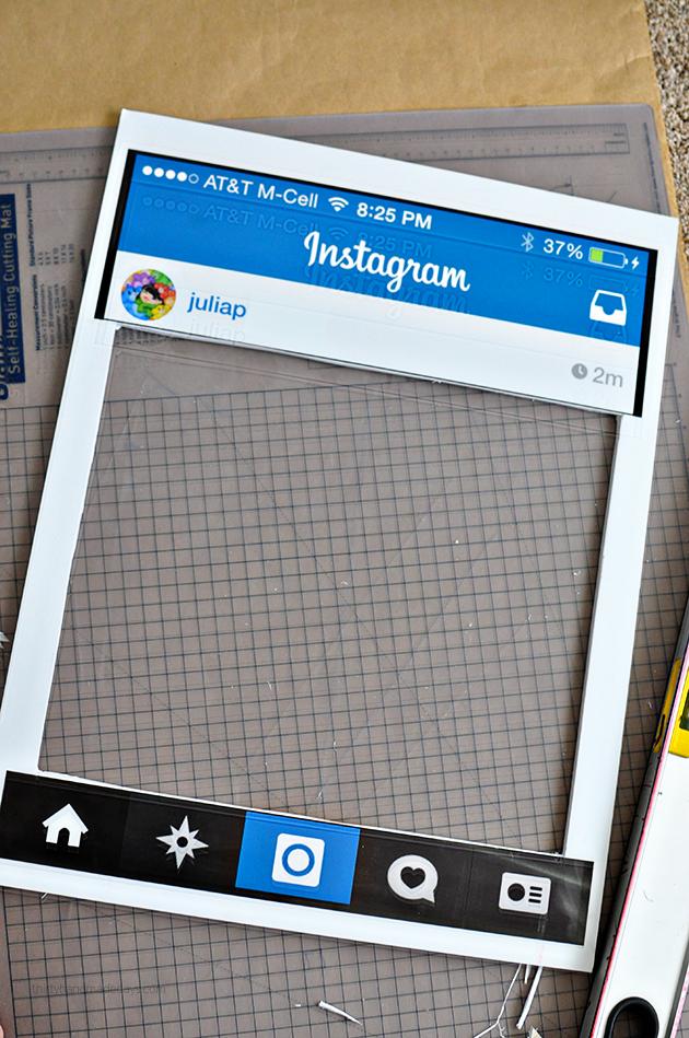 Fun TeenAdult Halloween Costume DIY Instagram Board Pinterest - Instagram cut out template