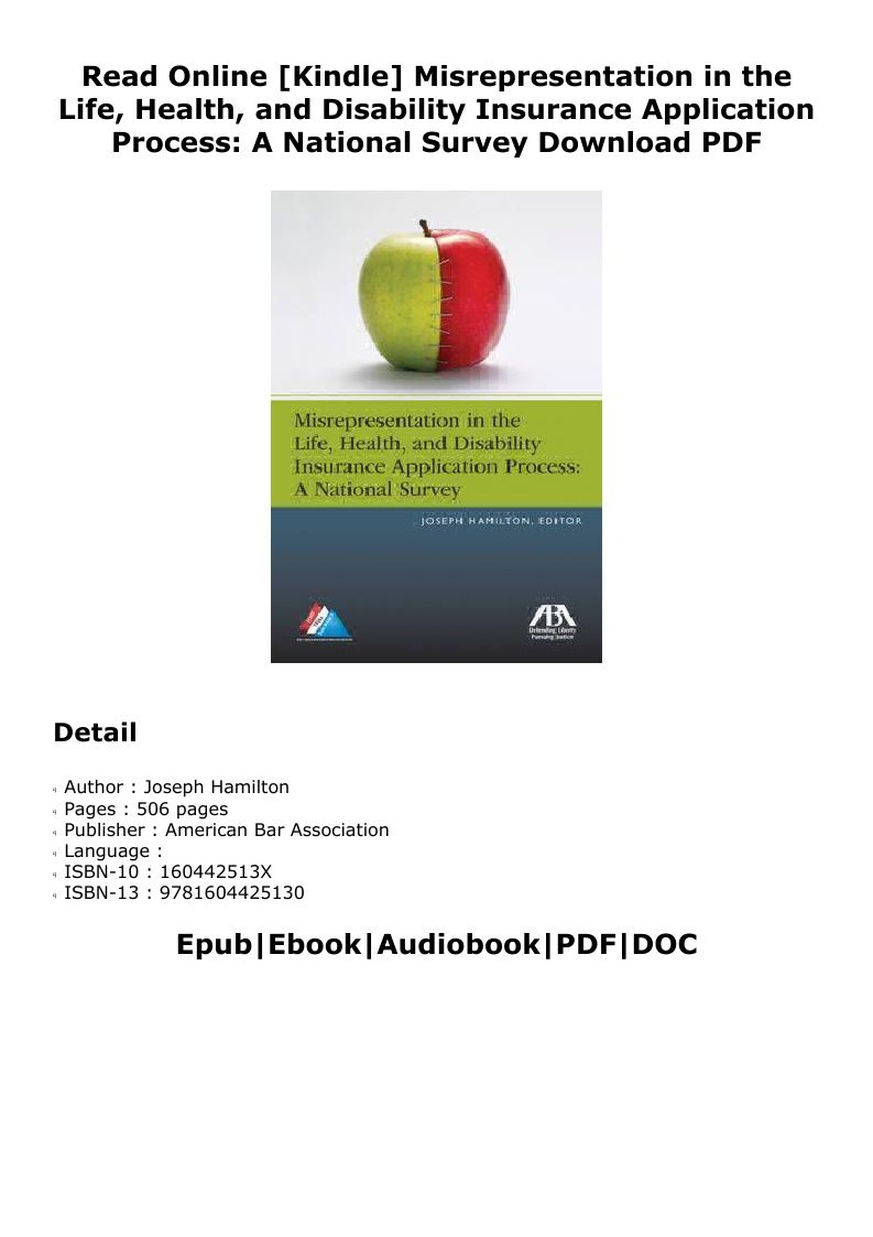 Pdf misrepresentation in the life health and