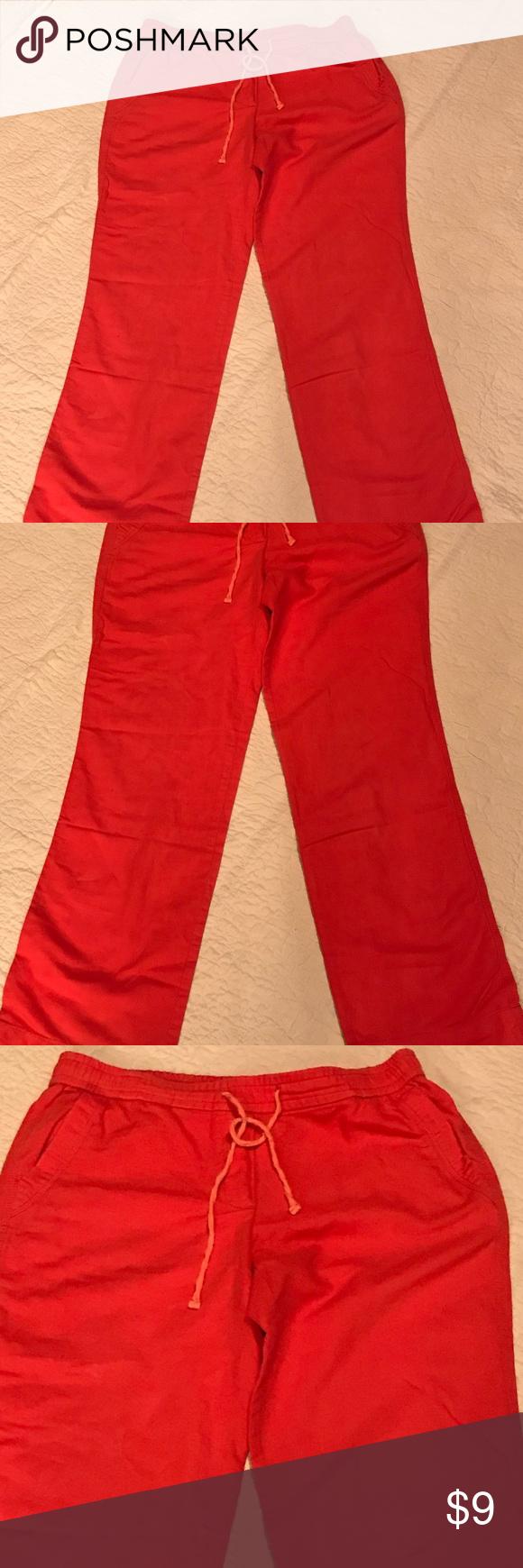 """Fleur Bleue Coral Linen Pants Linen blend. 30"""" inseam. Great for  Spring Summer! Fleur Bleu Pants 1e9e459ad03"""