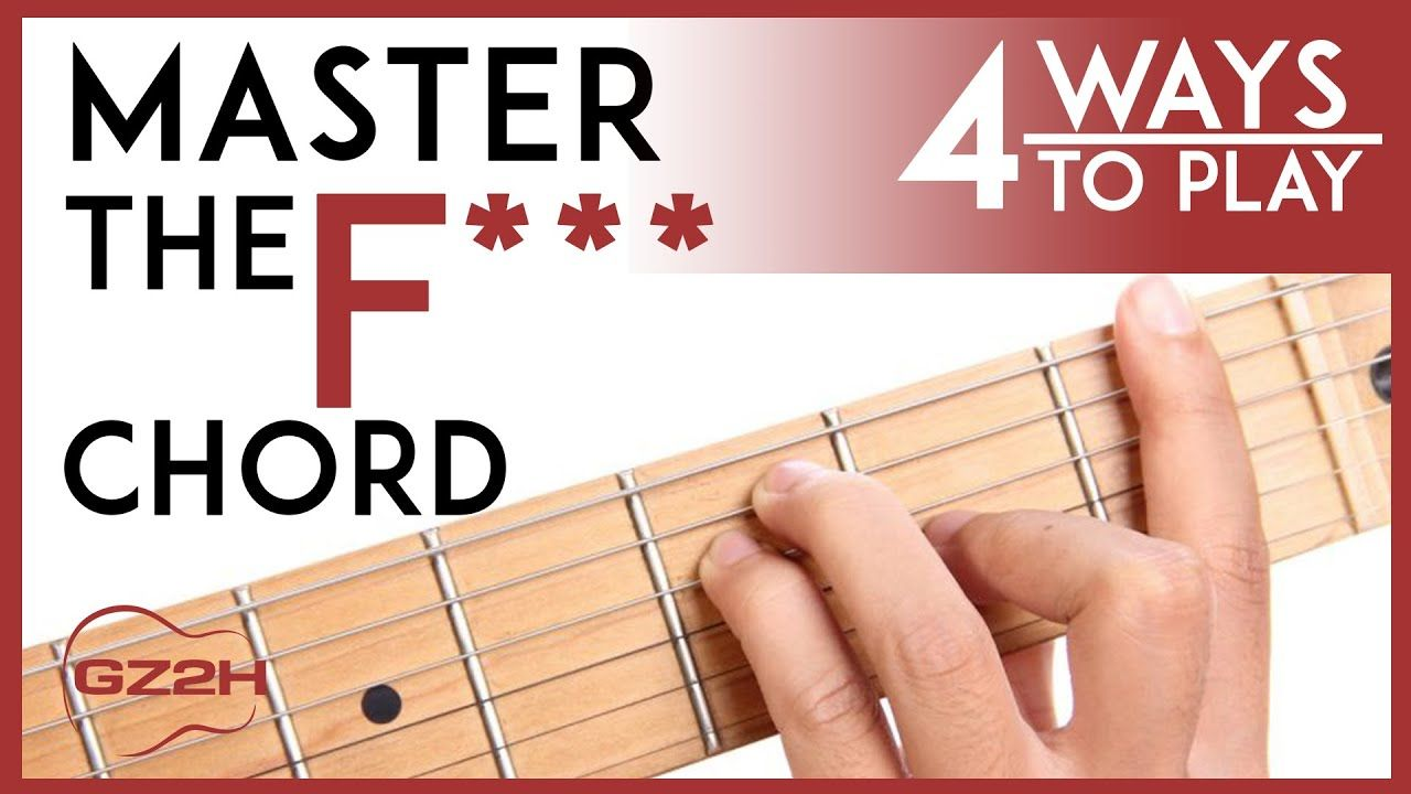 How to play the f chord 4 easy ways to finally master