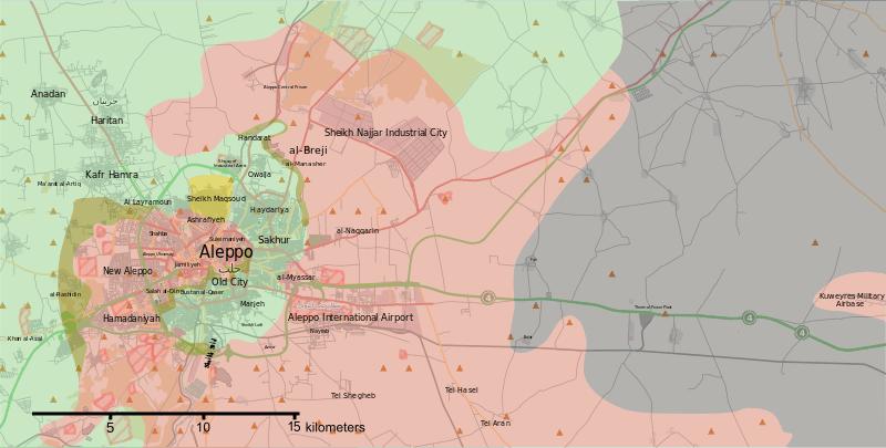 نجح الجيش السوري وحلفاؤه في قطع الطريق الشمالية بين مدينة حلب وتركيا والمعروفة بممر أعزاز وعلى الرغم من أن المعركة كانت عملية محلية شارك فيها عدد صغير نسبيا م
