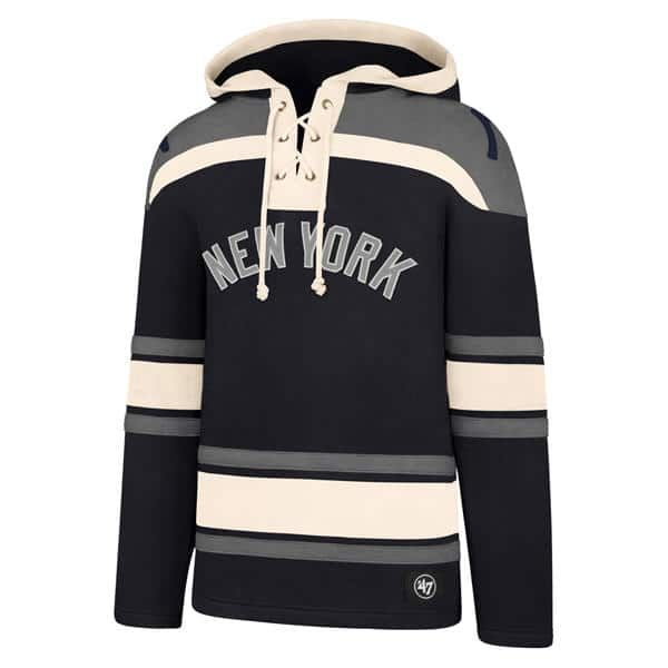 7ea38743ee5 New York Yankees Men s 47 Brand Navy Pullover Jersey Hoodie