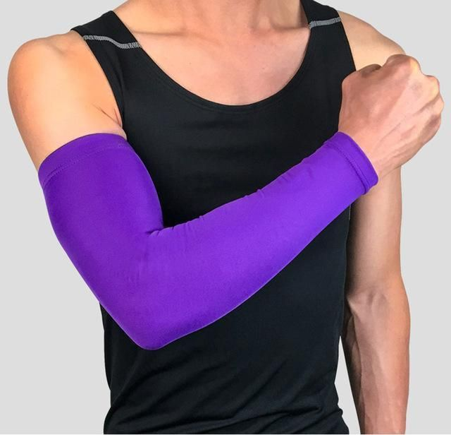 1pcs Non-slip Silicone Uv Protection Cycling Arm Warmers Basketball Elbow Pads Sport Armguard Men Women Cuff Running Arm Sleeves Running Arm Warmers Sports & Entertainment