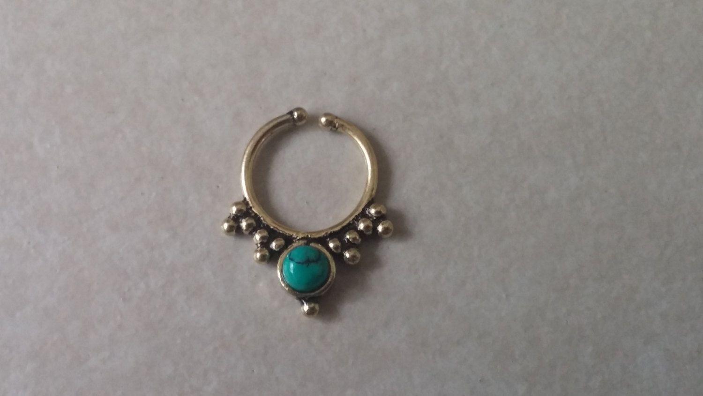 Fake piercing nose ring  Fake nose ring fake septum ring fake gauge fake septum fake gauge