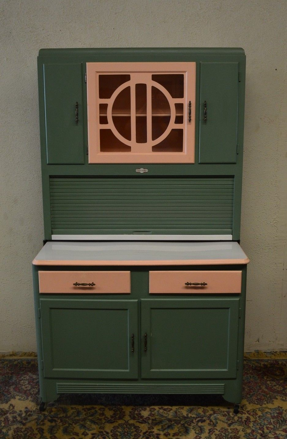 Vintage 1920 S Hoosier Cabinet With Flour Sifter Porcelain Top Made By Ers