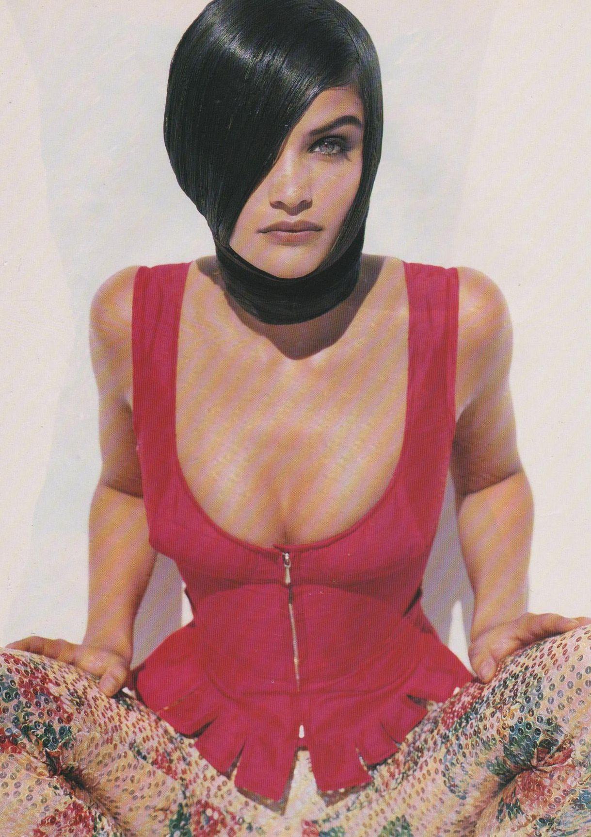 "UK Vogue February 1991 ""Inside Out"" Model: Helena Christensen Photographer: Herb Ritts Stylist: Sarajane Hoare"