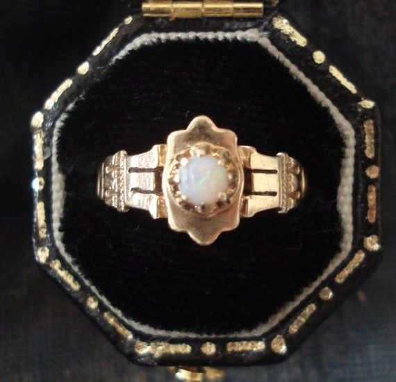 Antique Victorian Opal and 14k Gold Ring by VictorianSpiritRings, $185.00